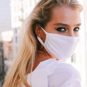 IN STOCK 1 PC White Adult Cotton Fabric Face Mask